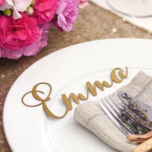 laser cut place card place settings
