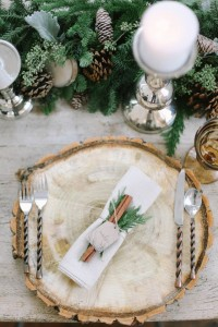 log placemat place settings
