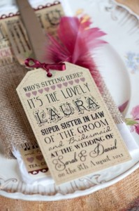 personalised place settings