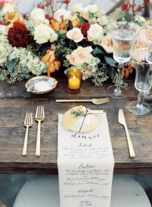 printed napkin place settings