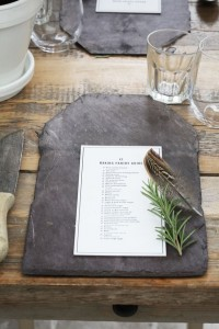 slate placemat place settings