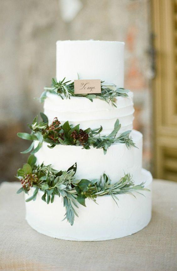 greenery cake
